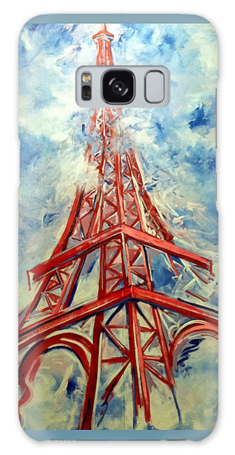 Eiffel Tower Galaxy S8 Case featuring the painting Paris Backdrop by Thomas Lupari