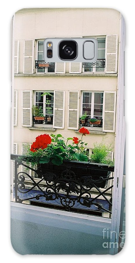 Window Galaxy S8 Case featuring the photograph Paris Day Windowbox by Nadine Rippelmeyer