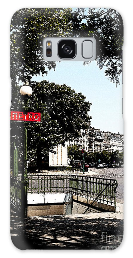 Metro Galaxy S8 Case featuring the photograph Paris Metro by Louise Heusinkveld