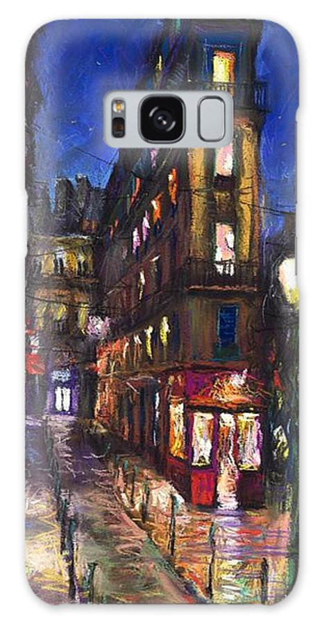 Landscape Galaxy S8 Case featuring the painting Paris Old Street by Yuriy Shevchuk