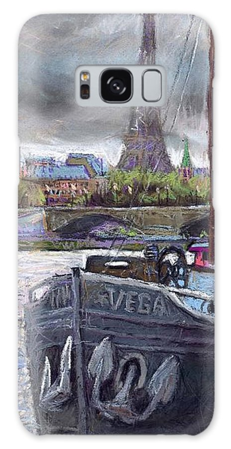 Pastel Galaxy S8 Case featuring the painting Paris Pont Alexandre IIi by Yuriy Shevchuk