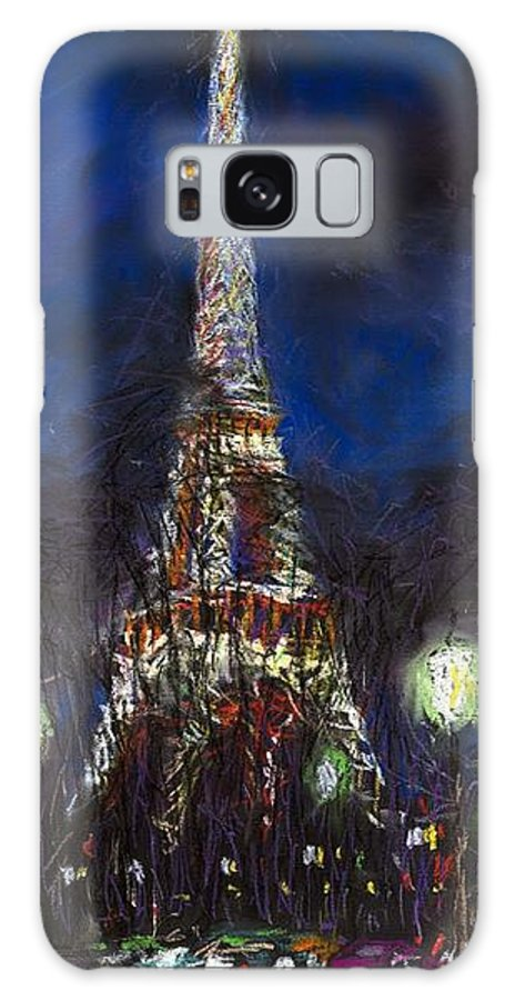 Pastel Galaxy Case featuring the painting Paris Tour Eiffel by Yuriy Shevchuk