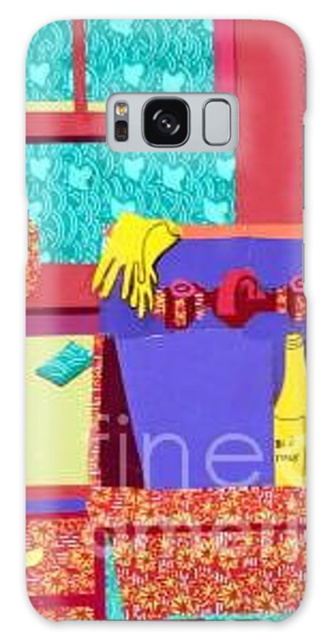 Kitchen Sink Galaxy S8 Case featuring the mixed media Parish Kitchen by Debra Bretton Robinson