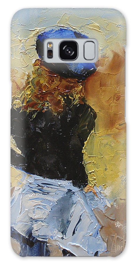 Figurative Galaxy S8 Case featuring the painting Parisian by Barbara Andolsek