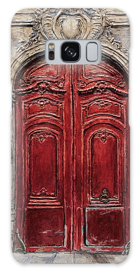 Doors Galaxy S8 Case featuring the painting Parisian Door No.49 by Joey Agbayani