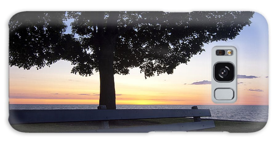 Galaxy S8 Case featuring the photograph Park Bench At Dawn by Sven Brogren