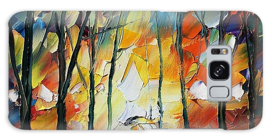 Afremov Galaxy S8 Case featuring the painting Park by Leonid Afremov