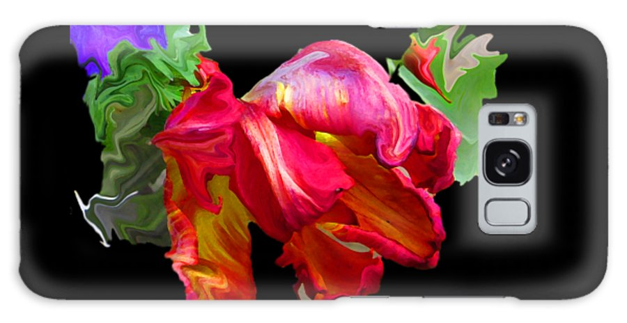 Abstract Galaxy S8 Case featuring the photograph Parrot Tulip by Kathy Moll