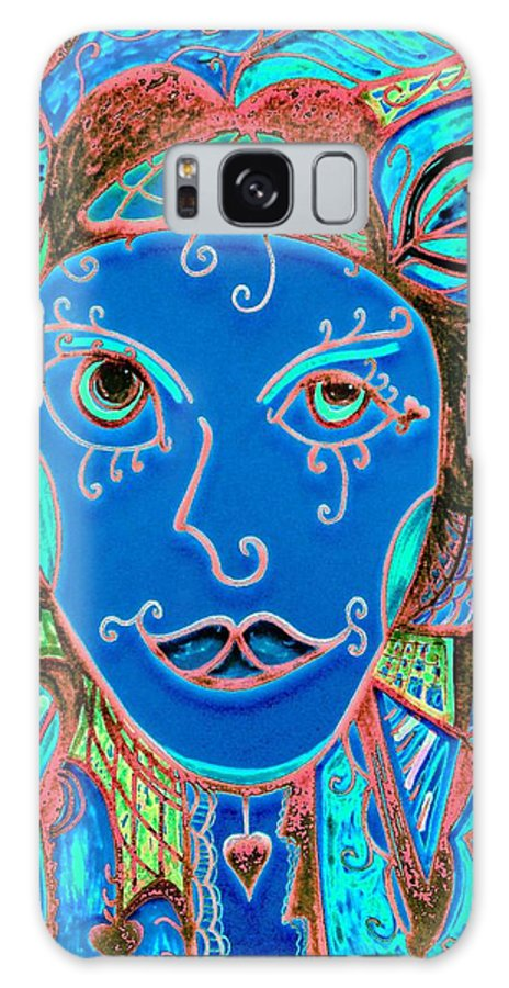 Party Girl Galaxy S8 Case featuring the painting Party Girl by Natalie Holland