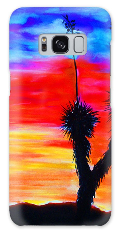 Sunset Galaxy Case featuring the painting Paso Del Norte Sunset 1 by Melinda Etzold
