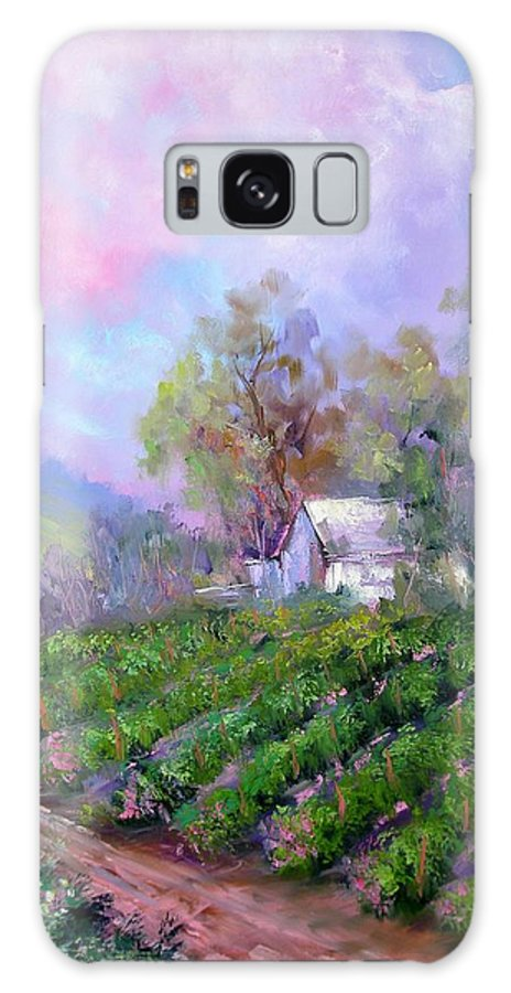 Wine Galaxy S8 Case featuring the painting Paso Vineyard by Sally Seago