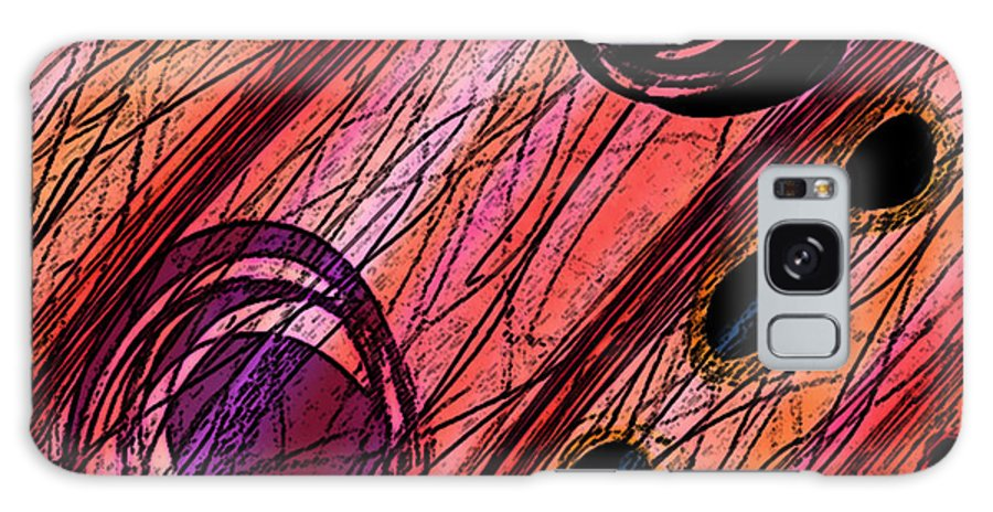 Abstract Galaxy S8 Case featuring the digital art Passages by Rachel Christine Nowicki