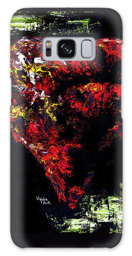Heart Galaxy Case featuring the painting Passion by Hiroko Sakai