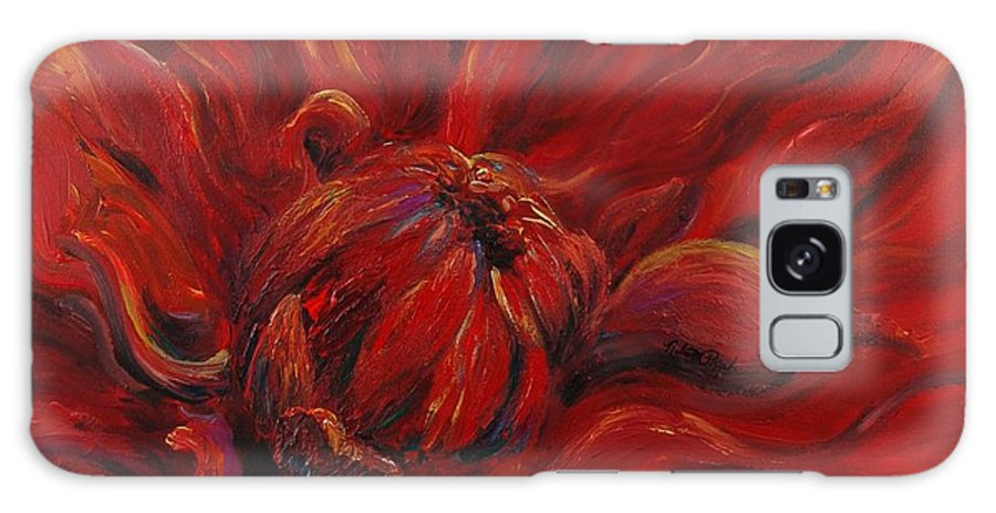 Red Galaxy S8 Case featuring the painting Passion II by Nadine Rippelmeyer
