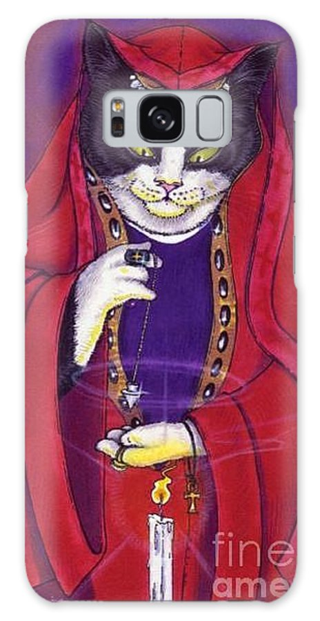Cats Galaxy S8 Case featuring the painting Passion by Sin D Piantek
