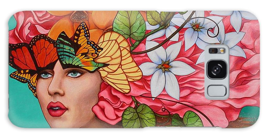 Woman Galaxy Case featuring the painting Passionate Pursuit by Helena Rose