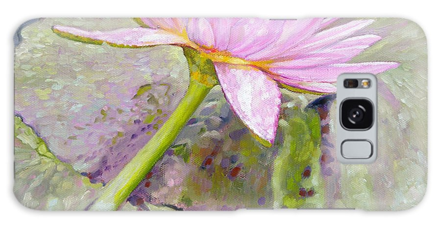 Water Lily Galaxy S8 Case featuring the painting Pastel Beauty by John Lautermilch