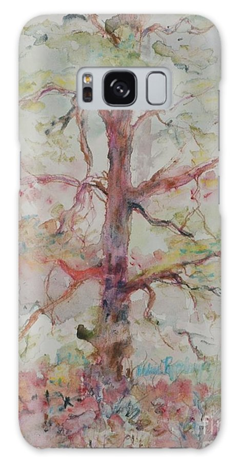 Forest Galaxy S8 Case featuring the painting Pastel Forest by Nadine Rippelmeyer