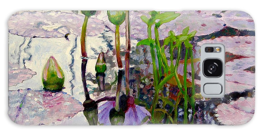 Water Lily Pond Galaxy S8 Case featuring the painting Pastel Light by John Lautermilch