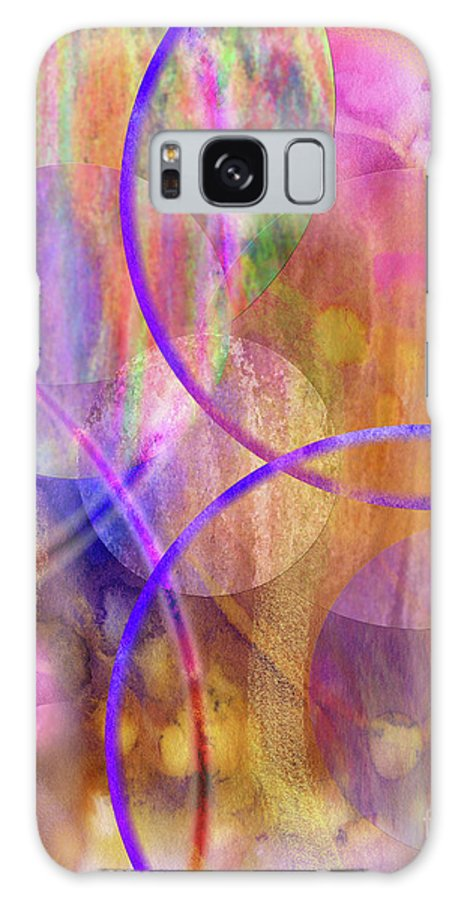 Pastel Planets Galaxy S8 Case featuring the digital art Pastel Planets by John Beck