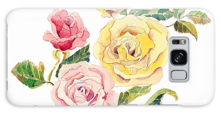 Roses Galaxy S8 Case featuring the painting Pastel Roses by Arline Wagner