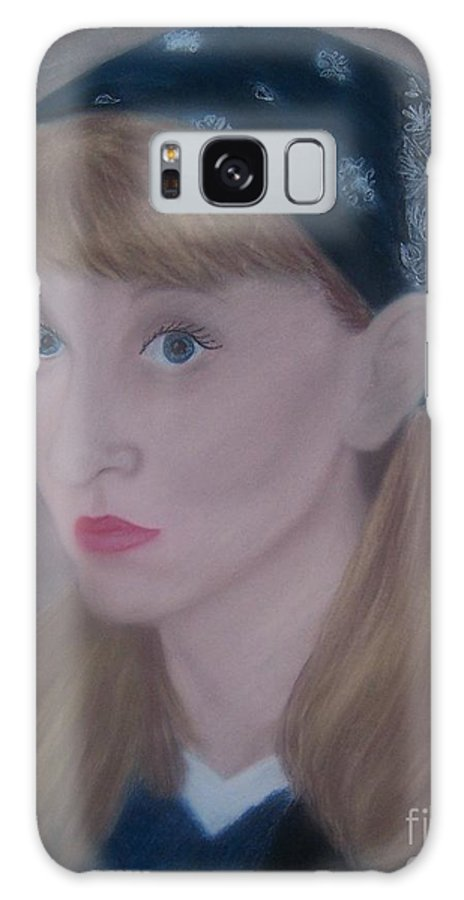 Self Portrait Galaxy Case featuring the pastel Pastel Self Portrait by Emily Young