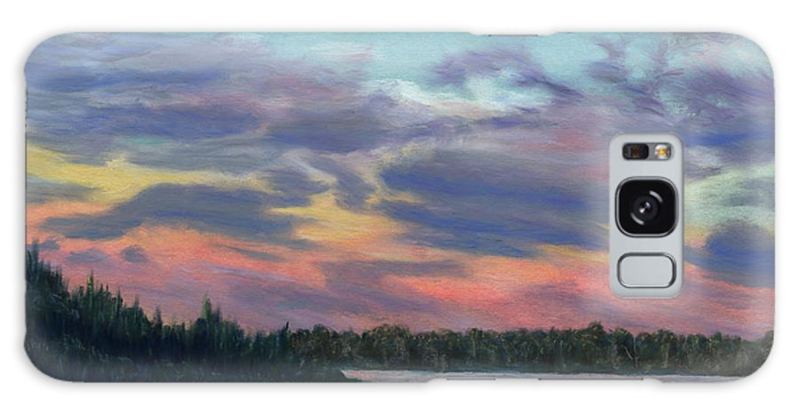 Landscape Galaxy S8 Case featuring the painting Pastel Sunset by Lynn Quinn