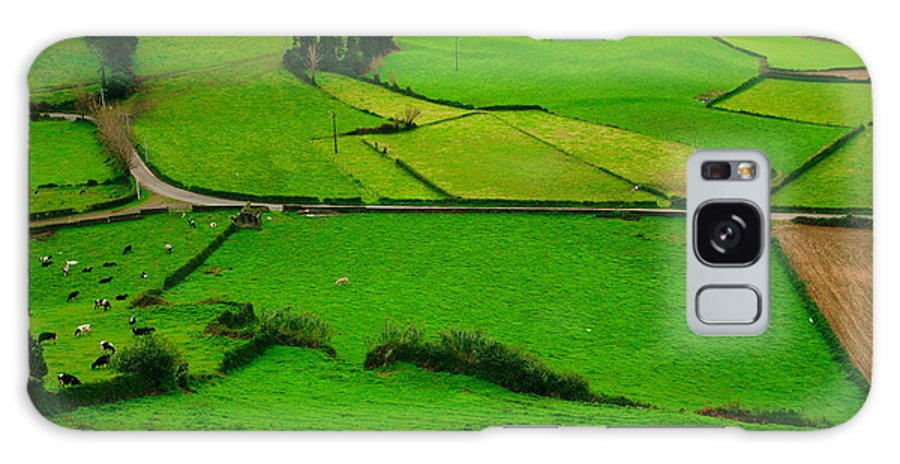 Dairy Galaxy Case featuring the photograph Pastures In The Azores by Gaspar Avila