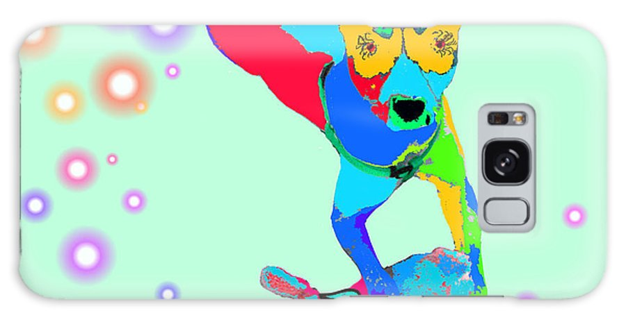 Dog Galaxy S8 Case featuring the digital art Patches by Rosalie Scanlon