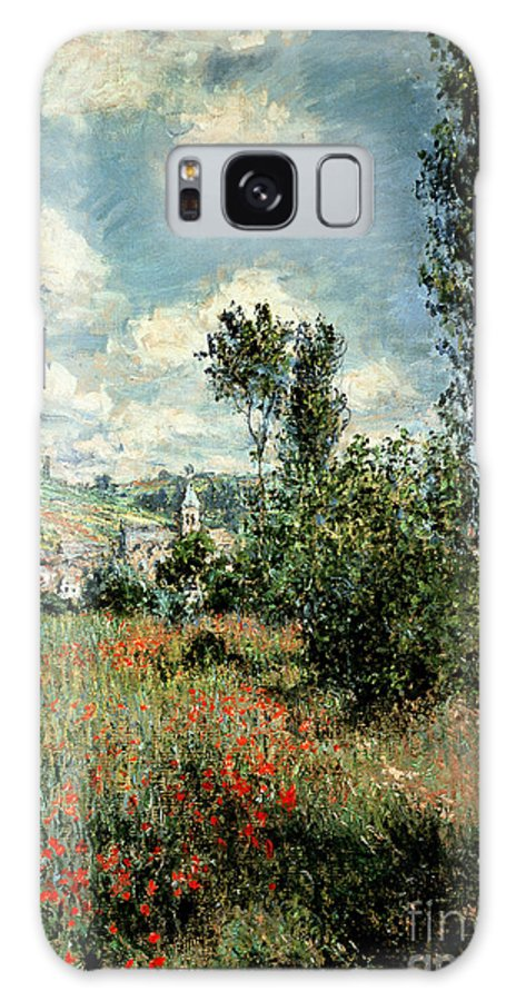 Path Galaxy S8 Case featuring the painting Path Through The Poppies by Claude Monet