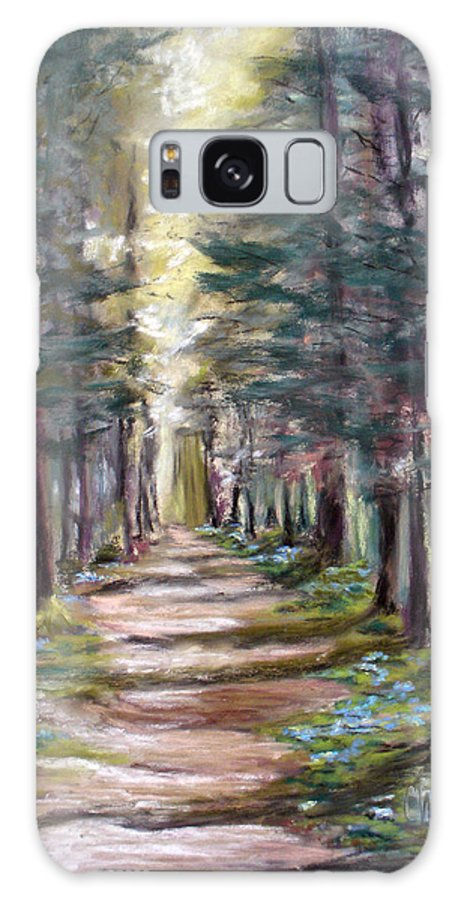 Landscape Galaxy S8 Case featuring the painting Path To Enlightenment by Cathy Weaver