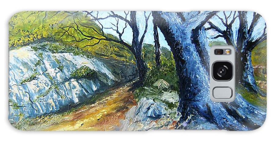 Landscape Galaxy S8 Case featuring the painting Path To Rivendale by Tami Booher