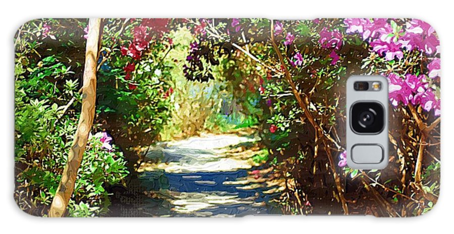 Landscape Galaxy S8 Case featuring the digital art Path To The Gardens by Donna Bentley