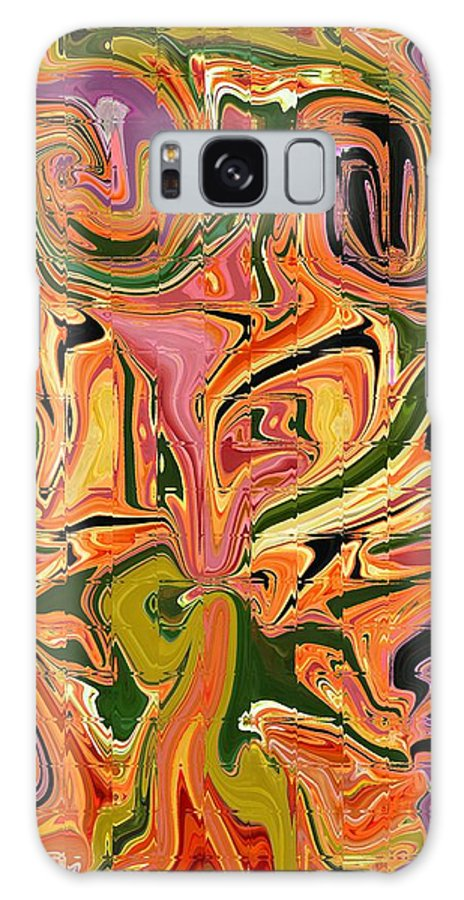 Abstract Galaxy S8 Case featuring the digital art Paths Crossed by Florene Welebny