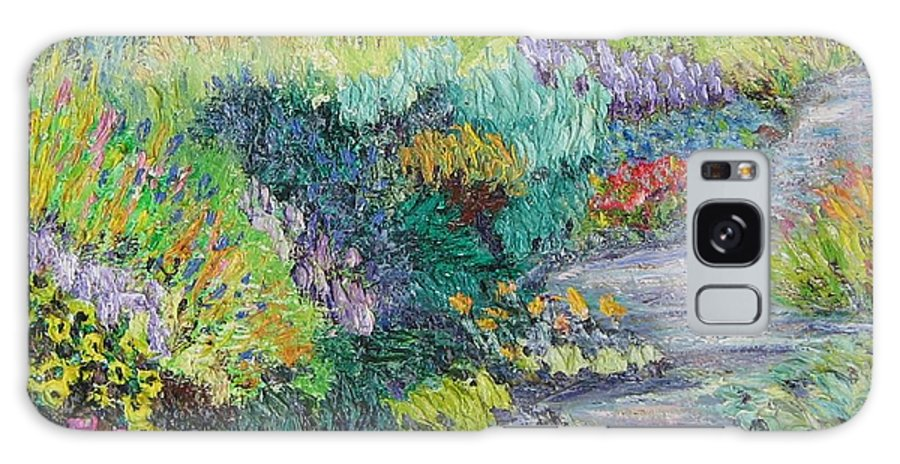 Flowers Galaxy Case featuring the painting Pathway Of Flowers by Richard Nowak