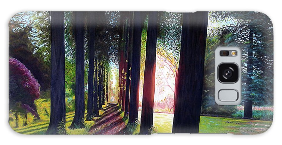 Landscape Galaxy Case featuring the painting Pathy of light by Jose Manuel Abraham