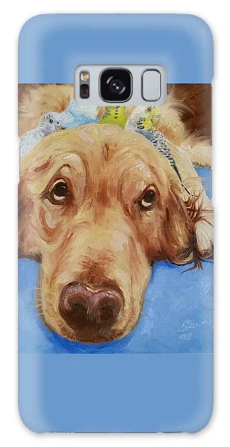 Dog Galaxy S8 Case featuring the painting Patience by Susan Galassi
