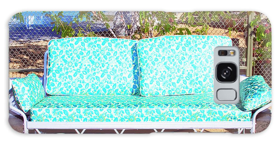Patio Furniture Galaxy S8 Case featuring the photograph Patio Invitation Palm Springs by William Dey