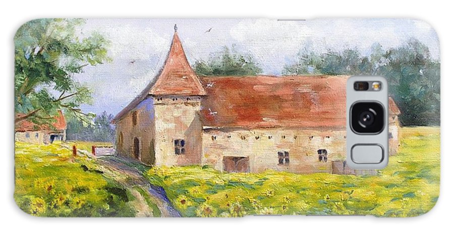 France Galaxy S8 Case featuring the painting Patricks Barn by Barbara Couse Wilson