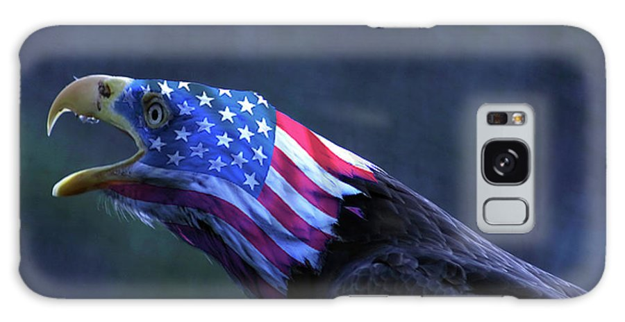 Patriot Galaxy S8 Case featuring the photograph Patriot Eagle by Vasil Vasilev