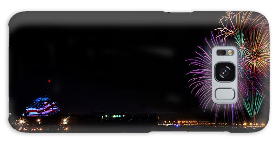 Firework Galaxy S8 Case featuring the photograph Patriot Point Firework by RC Pics