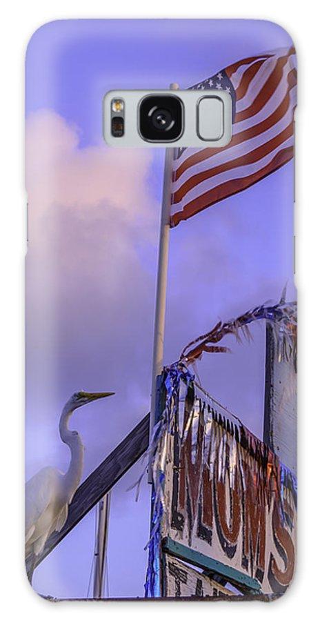 Patriotic Galaxy S8 Case featuring the photograph Patriotic Egret by Leticia Latocki