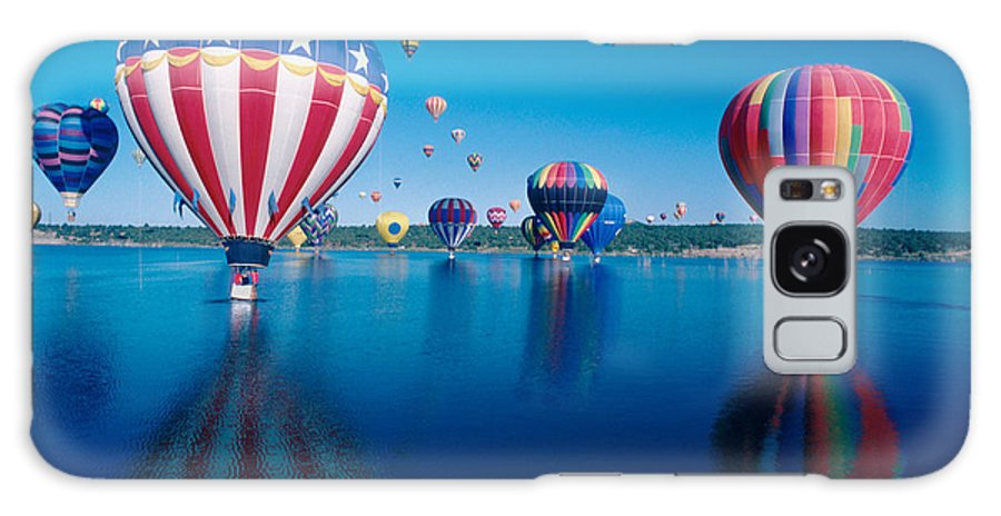 Hot Air Balloons Galaxy S8 Case featuring the photograph Patriotic Hot Air Balloon by Jerry McElroy