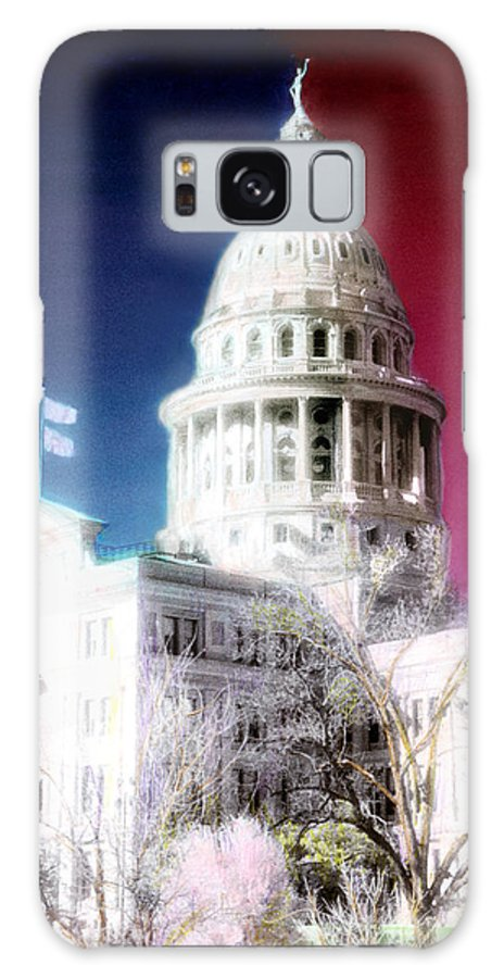 Americana Galaxy S8 Case featuring the photograph Patriotic Texas Capitol by Marilyn Hunt