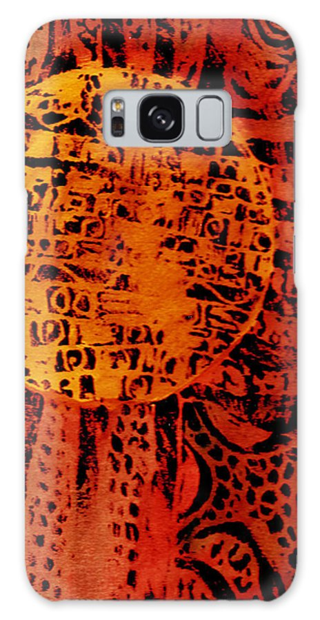 Abstract Galaxy S8 Case featuring the painting Patterns In The Sun by Wayne Potrafka