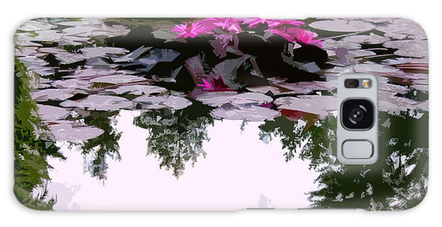 Water Lilies Galaxy S8 Case featuring the photograph Patterns Of Peace by John Lautermilch