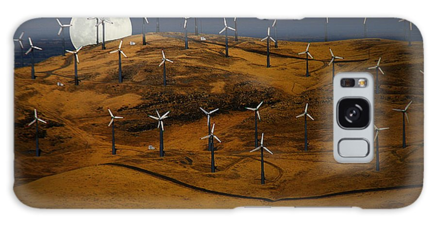 Landscape Galaxy S8 Case featuring the photograph Patterson Pass Wind Farm by Karen W Meyer