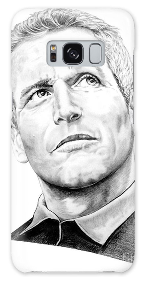 Paul Newman Galaxy S8 Case featuring the drawing Paul Newman by Murphy Elliott