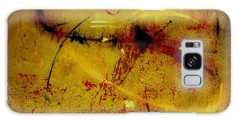 Abstract Galaxy Case featuring the painting Pay More Careful Attention by Ruth Palmer