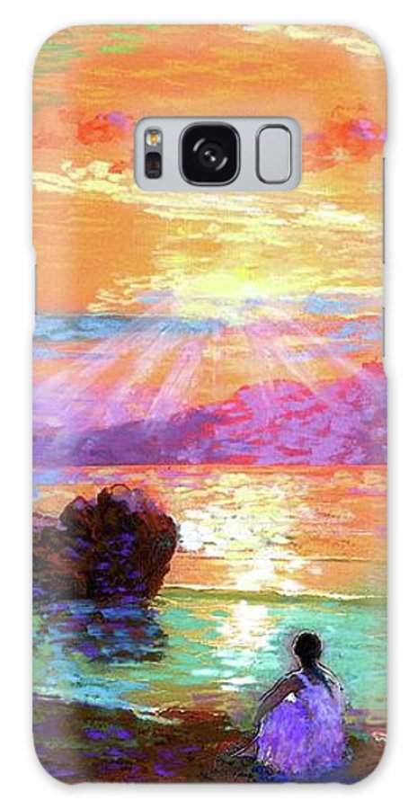 Sun Galaxy S8 Case featuring the painting Peace Be Still Meditation by Jane Small